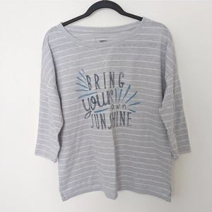 Sonoma Bring Your Own Sunshine Striped Casual Tee